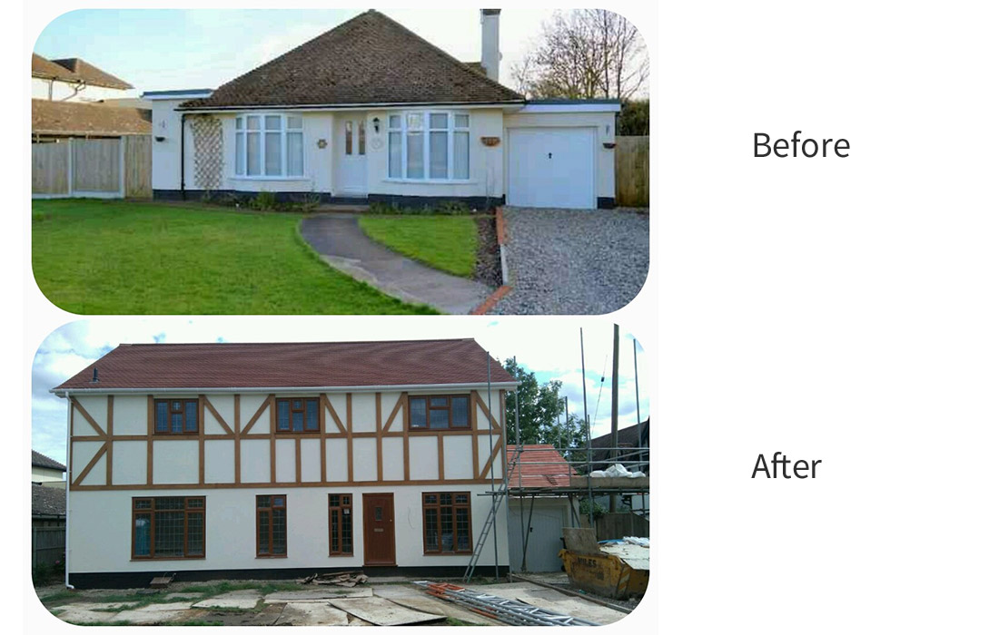 Chestfield Conversion - before & after 3/3